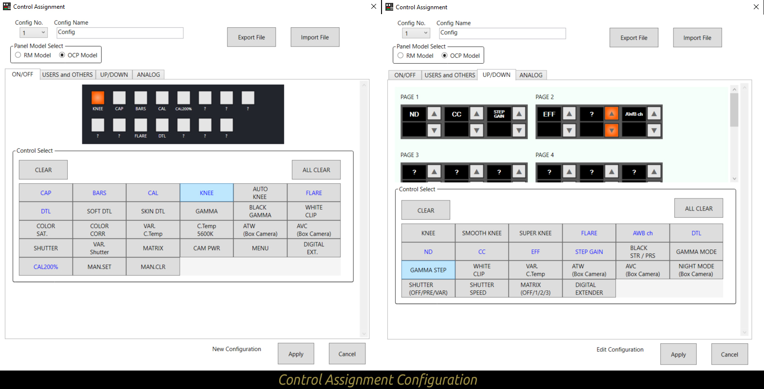Control Assignment Configuration